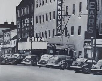 Broadway, Newburgh print