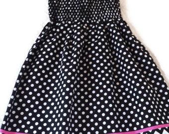 Hello Kitty Black/White Polka Dot Sundress