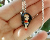 Wonder woman, necklace inspired by the legendary comic book heroine.