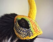 Crochet Cat Dog Hat Yellow Banana Hat Unique Handmade for cats, dogs