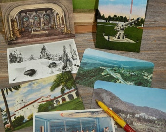 RETRO POST CARDS, Group of 8 Unused, Retro post cards from California.