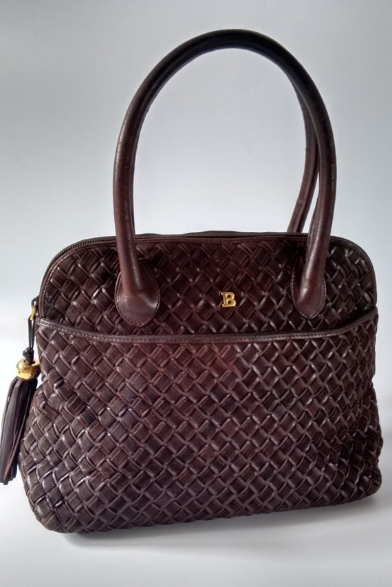 Sale Bally Vintage Chocolate Brown Leather And Suede Handbag