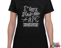 Hair Stylist T-Shirt I Turn Hair Into Art Hairdresser Shirt Gifts For Hairdresser Gifts For Barber Hairstylist T-Shirt Ladies Tee DN-134