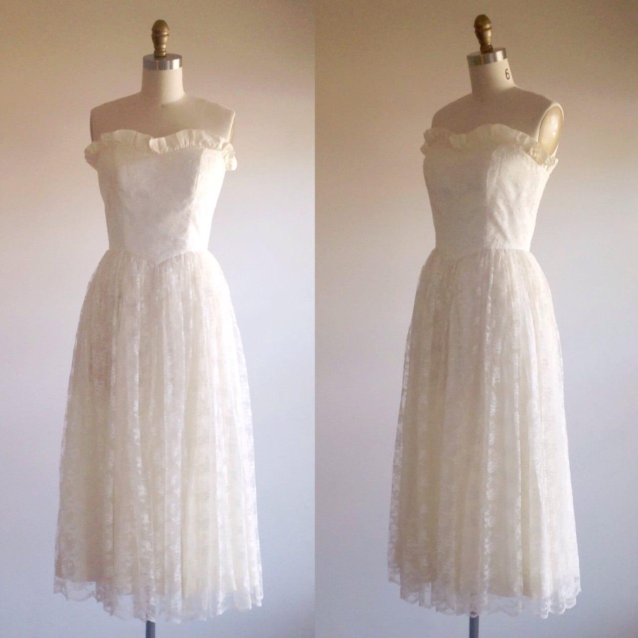Lace Wedding Dress Simple Wedding Dress Ivory Wedding Dress