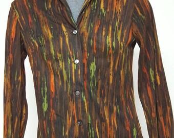 Vintage Shirtmaker Velour Blouse