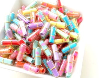 Kawaii Happy Pills Capsules (25 or 50 pcs) - Wish pill - message in a pill - fake pills