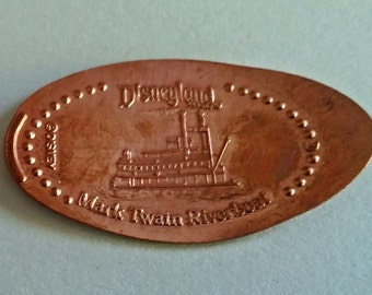 Mark Twain Riverboat Pressed Penny from Disneyland