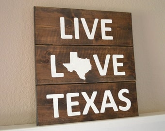 Texas Wood Sign Etsy