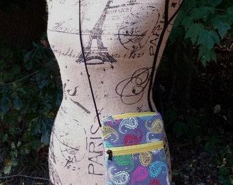 Paisley Cell Phone Bag, Paisley IPhone 6 bag, Paisley tablet bag