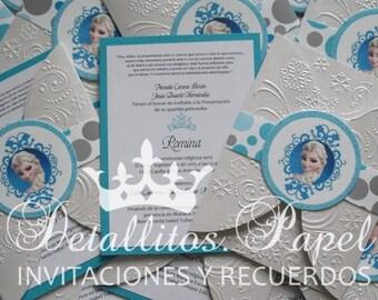 Frozen Invitation, Princess Invitation, Frozen Party, Frozen Birthday Invitation,  Birthday Invitation Frozen, Winter Invitation
