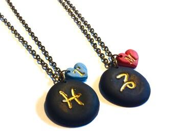 Zodiac Jewelry, Aquarius Star Sign, Personalized Jewelry Constellation Initial Necklace, Zodiac Necklace, Zodiac Birthday Gift