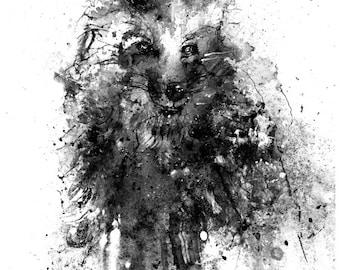 Yoda : Swamp Dweller - Ink, in Andy Brase's **Batman, Hellboy ...