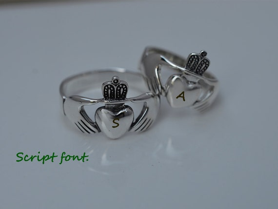 items similar to claddagh ring for couples