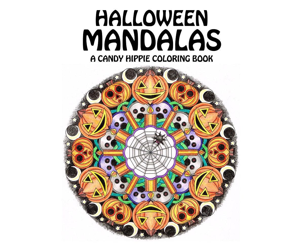 Halloween Mandalas Coloring Book