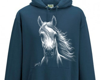 Sweatshirt - Women - white horse