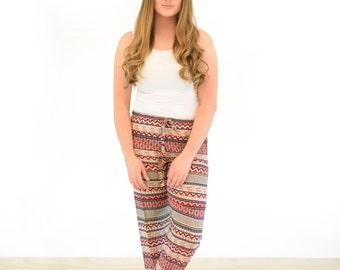 "Stripy coloured lounge pants / pyjamas - ""Lyka"""