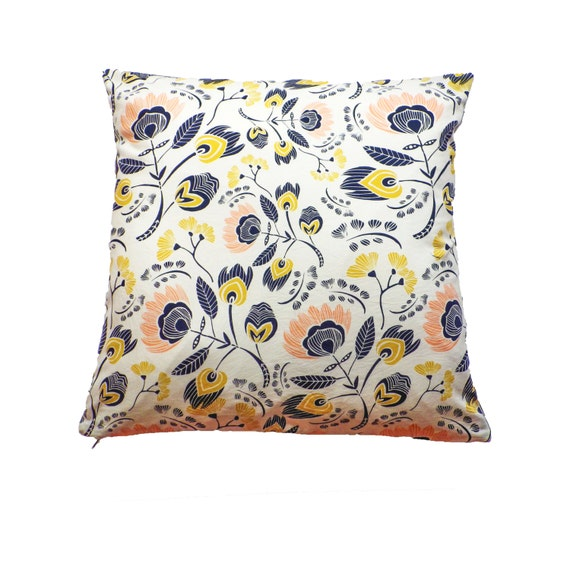 Scandinavian Design Throw Pillows : Floral Print Cushion Cover Scandinavian Design Pillow Cover