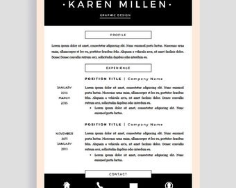 Resume Template Pages | Two Page Resume Template | Creative Resume Template | Professional Resume for Word | Teacher CV | CV Template