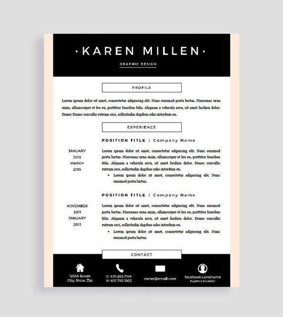 resume template pages two page resume template creative resume template professional resume for word teacher cv cv template
