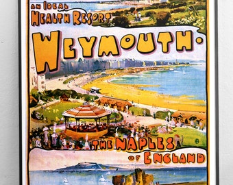 Weymouth, Dorset - Great Western Trains Vintage Travel Poster - Digitally restored  print / art / poster