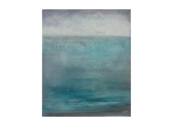 Blue turquoise grey white original abstract by gegotpaintings for Peinture gris turquoise