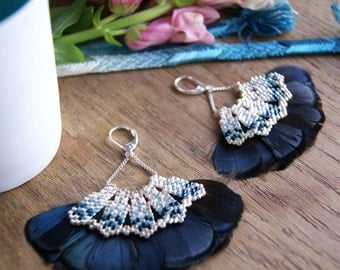 Paro - Earrings blue and silver