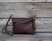 Leather Cross Body Purse / One of a kind / Leather Bag /  Small Shoulder Bag / Brown Leather Purse / Feral Empire