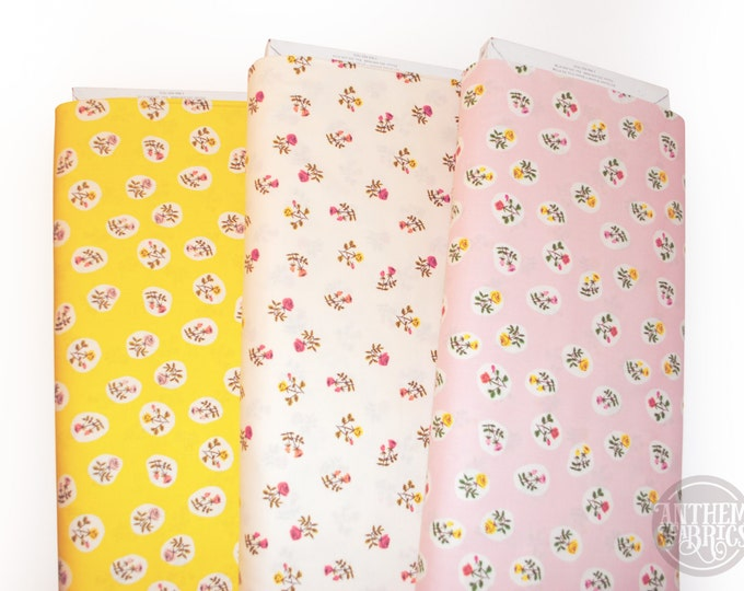 Tiger Lily by Heather Ross - Wild Roses bundle HR40930, fat quarter set 3 pieces