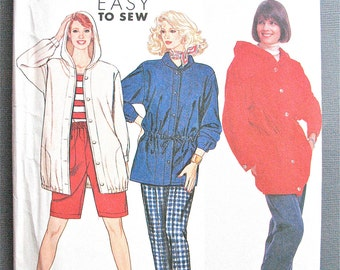 Uncut Simplicity 7015 Hooded Jacket Pants and Shorts  Hoody Vintage Sewing Pattern All Sizes