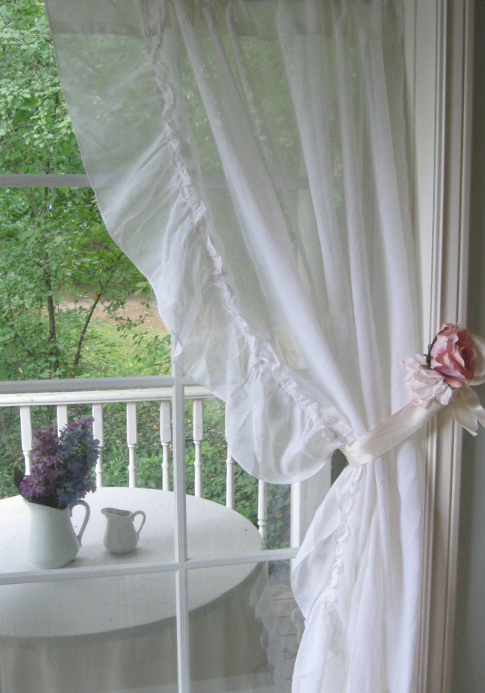 vorhang r schen vorhang fenster abzudecken shabby french. Black Bedroom Furniture Sets. Home Design Ideas