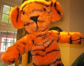 Arm Puppet Tiger Toy, Activity Toy for Kids,Made to Order,Boy or Girl Toy for Toddlers,Tiger Toy for Toddlers, Soft Tots Toy,Easter Gift.