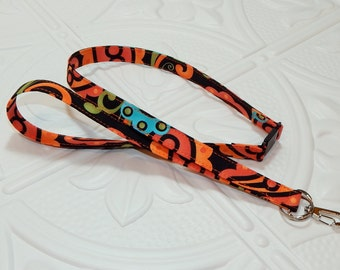Breakaway Lanyard  ID Badge Lanyard Key Lanyard Id Lanyard Teacher Gift Black Blue Orange