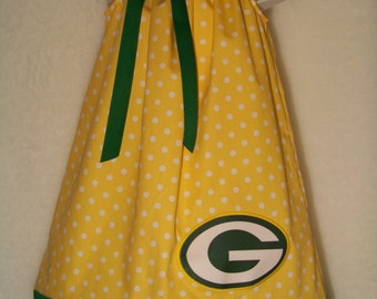 Green Bay Packers Dress / Packer Baby / Yellow / Green / Newborn / Infant / Baby / Girl / Toddler / Custom Boutique Clothing