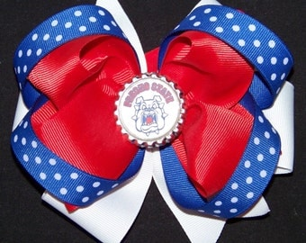 Fresno State Hair Bow or Headband / Red & Blue / Bulldogs / Game Day / Football / Infant / Baby / Girl / Toddler / Custom Boutique