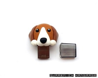 My Dog USB Drive 16 / 32 / 64 / 128 Gb- Customized with YOUR DOG