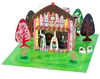 Hansel & Gretel Paper Theater - DIY Paper Craft Kit - Kids Craft Kit - Puppets - Paper Toy