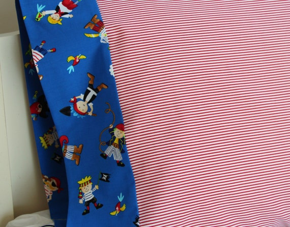 Pirates Pillowcase Red Blue for Kids