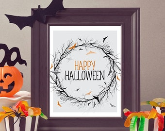Halloween Printable / Halloween Decoration / Halloween Decor / Instant Download / Halloween Print / Happy Halloween / Wall Art