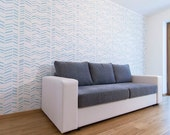 Herringbone - Large decorative Scandinavian wall stencil for DIY projects - Reusable - Wallpaper look - Easy home decor