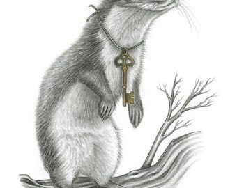 The Way Out (Weasel from the Messenger series) -- ORIGINAL Drawing