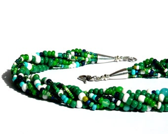 GREEN GREEN GREEN necklace Silver 925 / 950