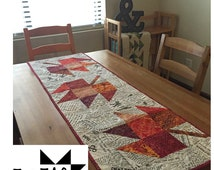 Maple Leaf Quilt Pattern Table Runner : Unique zigzag table runner related items Etsy