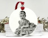 Baby's first Christmas Ornament New Mom Gift Expecting Mother Gift Babies 1st Ornament Baby Shower Gift Photo Ornament Custom Photo Ornament