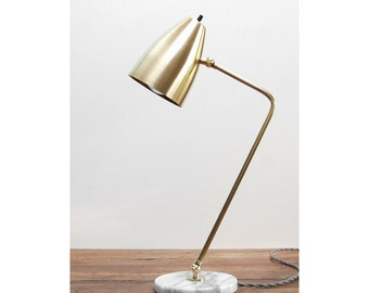 modern table lamp marble brass lamp mid century table lamp modern desk lamp - Modern Table Lamp