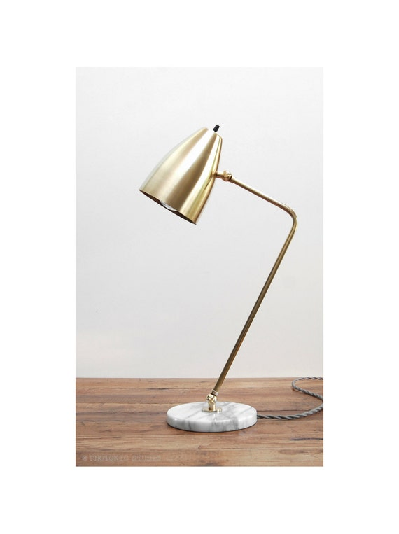 modern table lamp marble brass lamp mid century table lamp. Black Bedroom Furniture Sets. Home Design Ideas