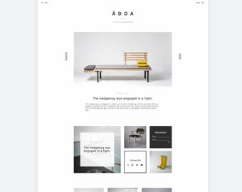 Ädda - Design & Lifestyle Blogger Theme - Minimal and Modern Blog Template - Clean Blogger Design - Scandinavian Style Blog Template