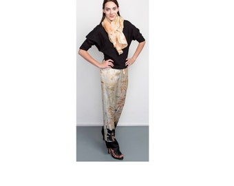 Silk Satin Pants Naturally Hand Dyed