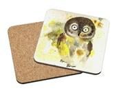 Art Coasters Mix & Match - Owl - cute baby owl Oladesign