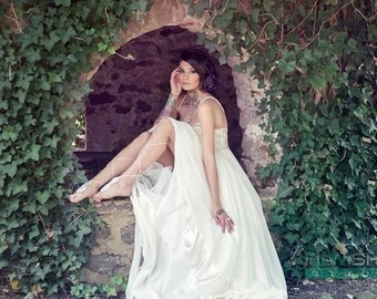 Gatsby wedding dress etsy gatsby wedding dress made with chiffon and beaded embroidery junglespirit Gallery