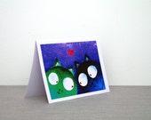 Birthday card Boyfriend Birthday card for him Anniversary card for boyfriend Cat cards Funny greeting card Cats Birthday card for boyfriend